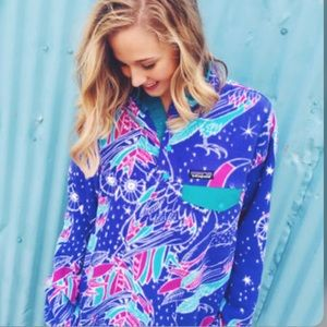 PATAGONIA Synchilla Snap-T Pullover Moon Owl Print